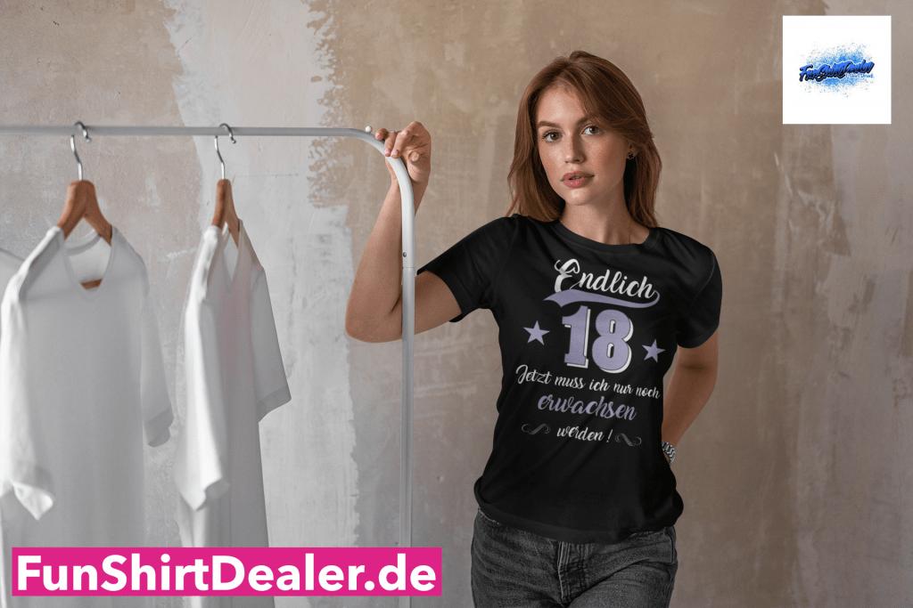 18 geburtstag maedchen erwachsen werden t shirt