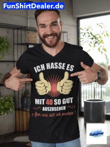 40 geburtstag mann geschenk gut aussehen t shirt