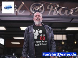 60 geburtstag mann biker lustig bitte helfen t shirt
