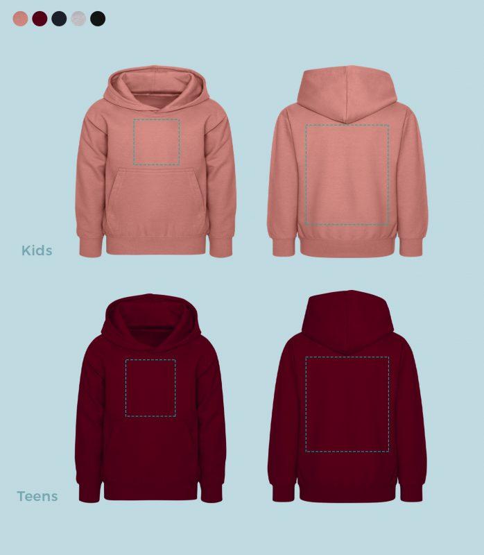 hoodies fuer kids und teens