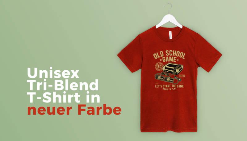 Unisex Tri Blend T Shirt von Bella Canvas