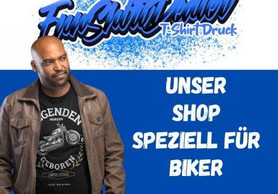 Unser T Shirt Shop speziell fuer Biker