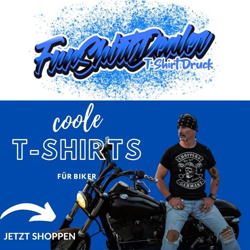 Coole und witzige T-Shirts für Biker. Old School, Classic Style und Geburtstag